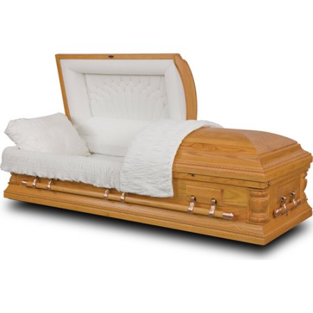 Natural Oak Casket