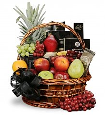 Sympathy Gourmet Gift Basket with Fruit