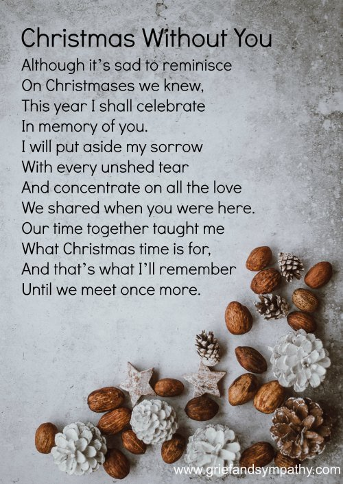 Christmas Without You Poem