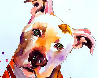 Custom Dog Memorial Portrait