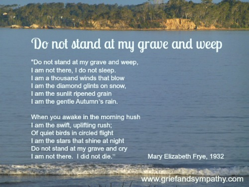 Do Not Stand at My Grave and Weep with Ocean Background
