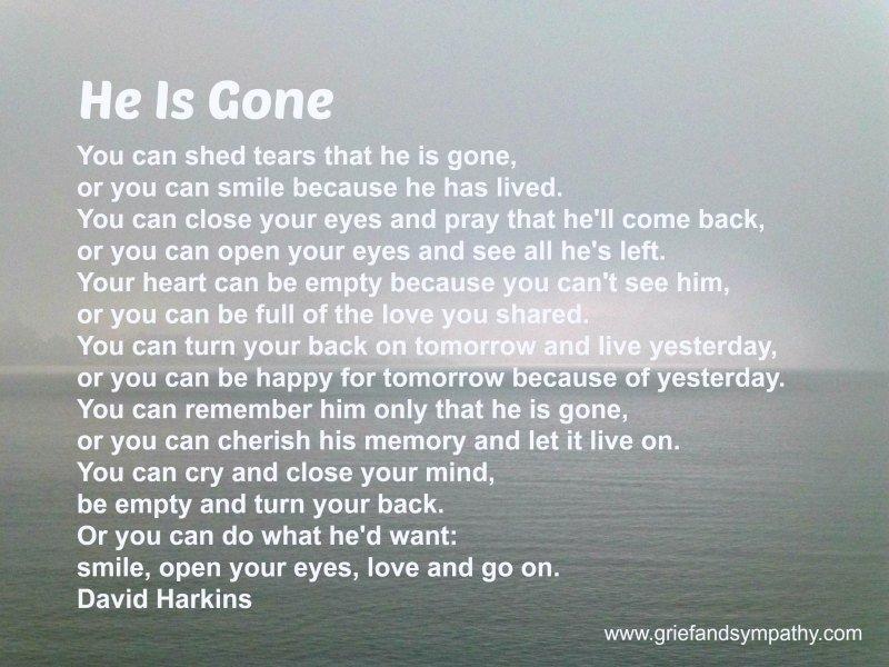 He is Gone - David Harkins