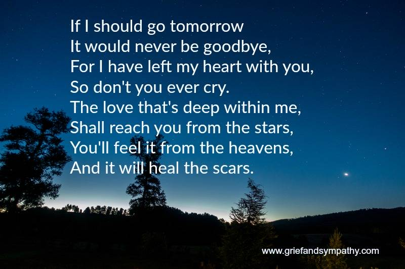 Poems to say goodbye to a friend