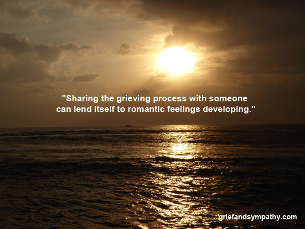 Quote - sharing the grieving process with someone - dark seascape