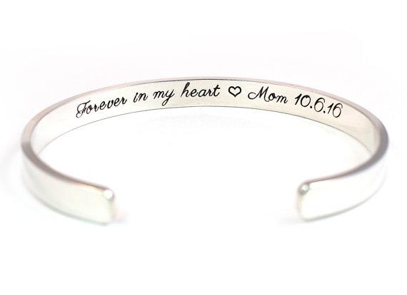 Silver Engraved Memorial Bracelet