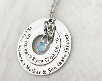 Memorial Necklace for a Son