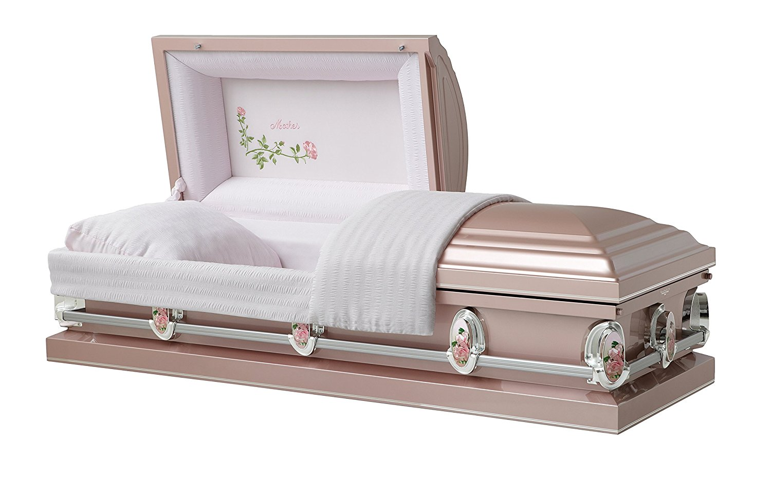Luxury Metal Casket with Roses