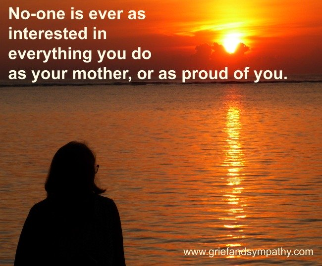 No-one is ever as proud of you as your mother.  Meme with sunrise.