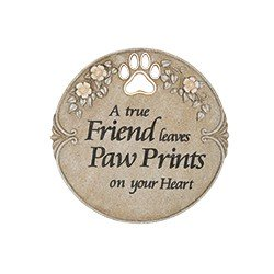 Paw Prints on Your Heart Pet Memorial Stepping Stone