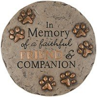 pet memorial stone in memory of a faithful companion