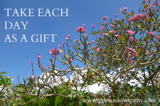 Take each day as a gift - Sky with Frangipani Trees