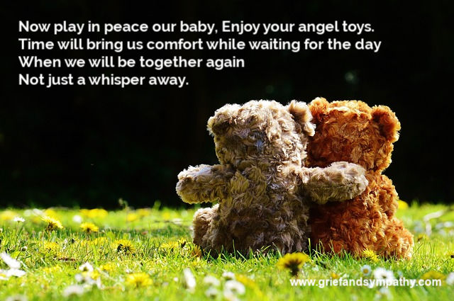 poem for loss of a child with Teddy photo